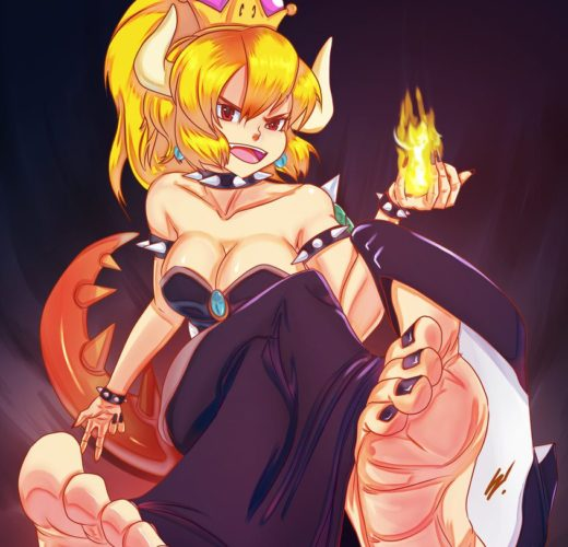 Queen Bowsette Foot Worship ~ Mario ~ By Scamwich
