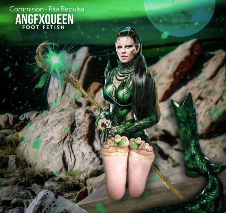 Rita Repulsa Foot Worship ~ Power Rangers ~ By ANGFXQUEEN