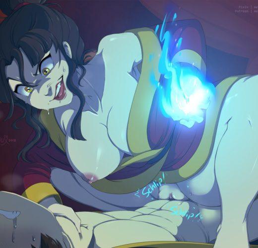 Azula Riding – Avatar: The Last Airbender ~ By Merunyaa