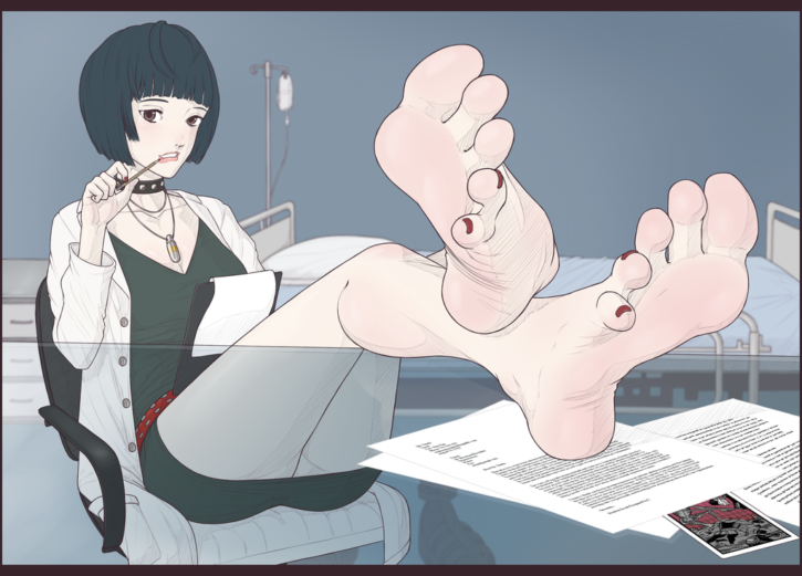 Tae Takemi Foot Worship ~ Persona 5 ~ By WTFeather