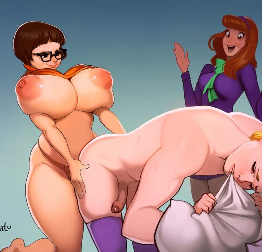 Velma Dinkley x Daphne Blake Pegging ~ Scooby-Doo ~ By VoidNosferatu