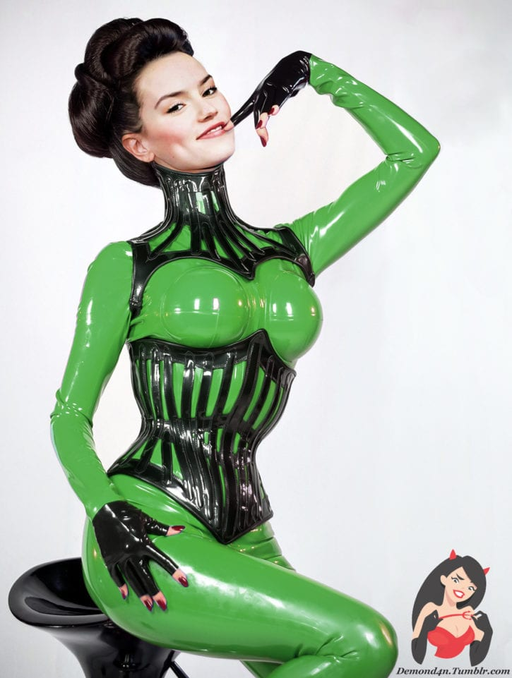 Daisy Ridley in Colorful Latex ~ Celebrity ~ By DemonD4n
