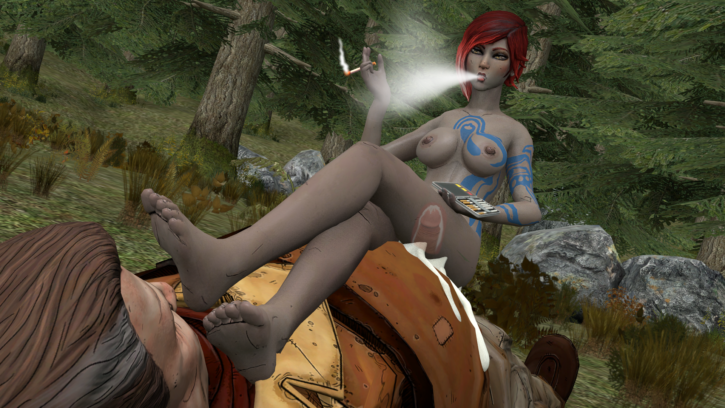 Lilith Smoking and Foot Fetish ~ Borderlands ~ By PSPM