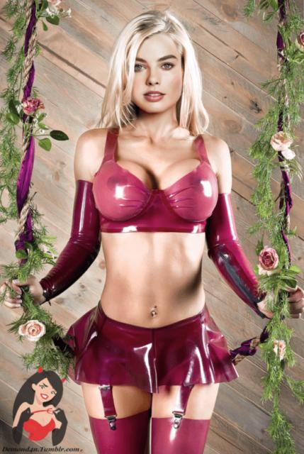 Margot Robbie Latex ~ Celebrity ~ By DemonD4n - Rule 34