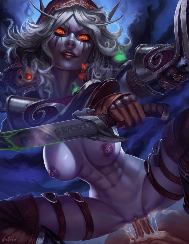 Sylvanas Windrunner Riding ~ World of Warcraft ~ By Evulchibi