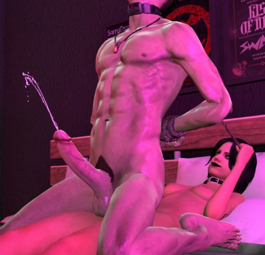 Zoey Pegging Dante ~ Left 4 Dead/Devil May Cry ~ By SassyPaddy