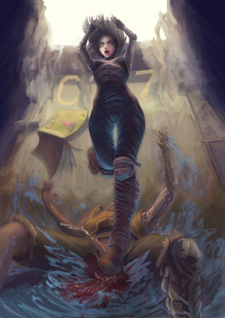 Alita Ballbusting Castration ~ Alita ~ By Ccrack