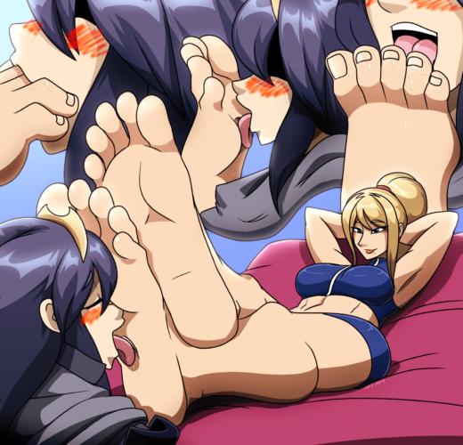 Samus Foot Worship ~ Nintendo ~ By MostlyFunStuff