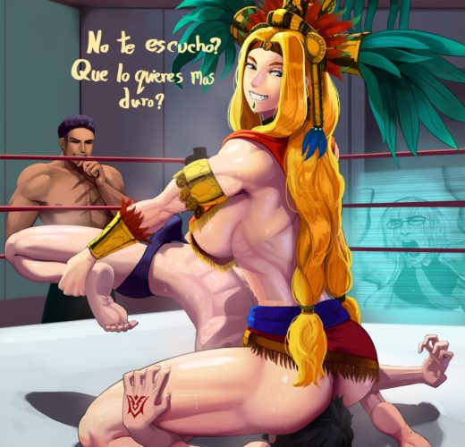 Quetzalcoatl Wrestling and Facesitting ~ Fate/Grand Order ~ By Aka6