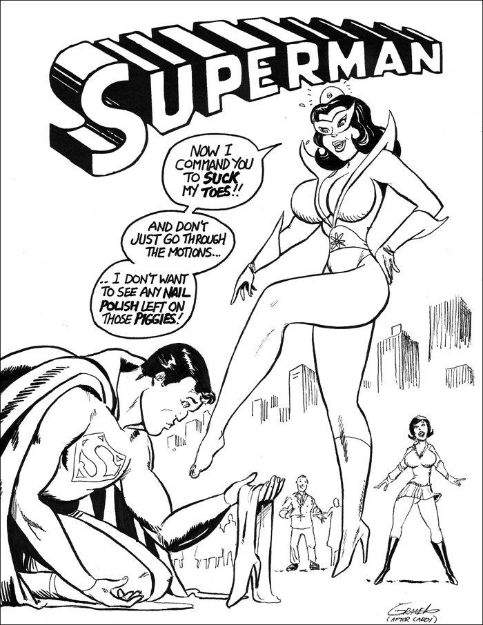 Star Sapphire Boot Domination ~ DC Comics ~ By Joe Gravel